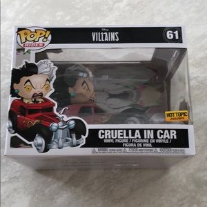 New Disney Villains Cruella in Car Funko POP Rides